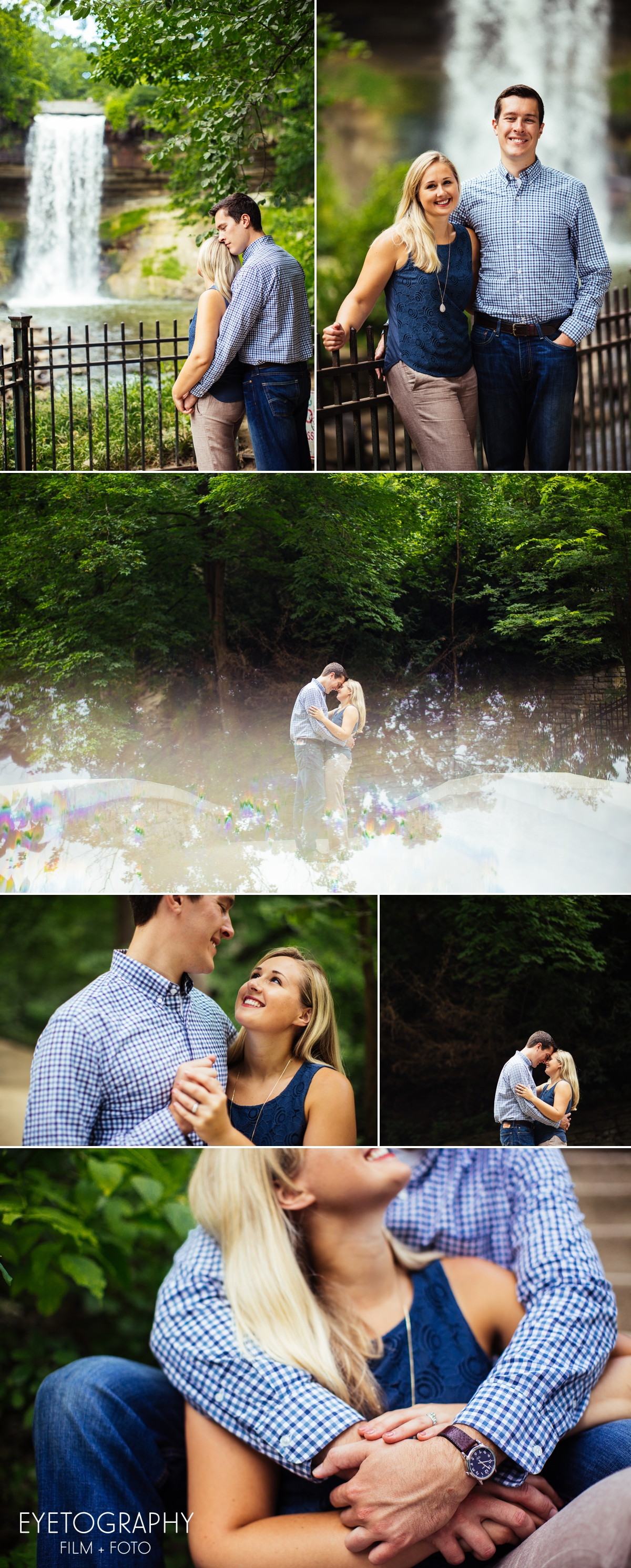Minnehaha Falls Park Engagement Photography | Eyetography Film + Foto | Anna and Garrett 4