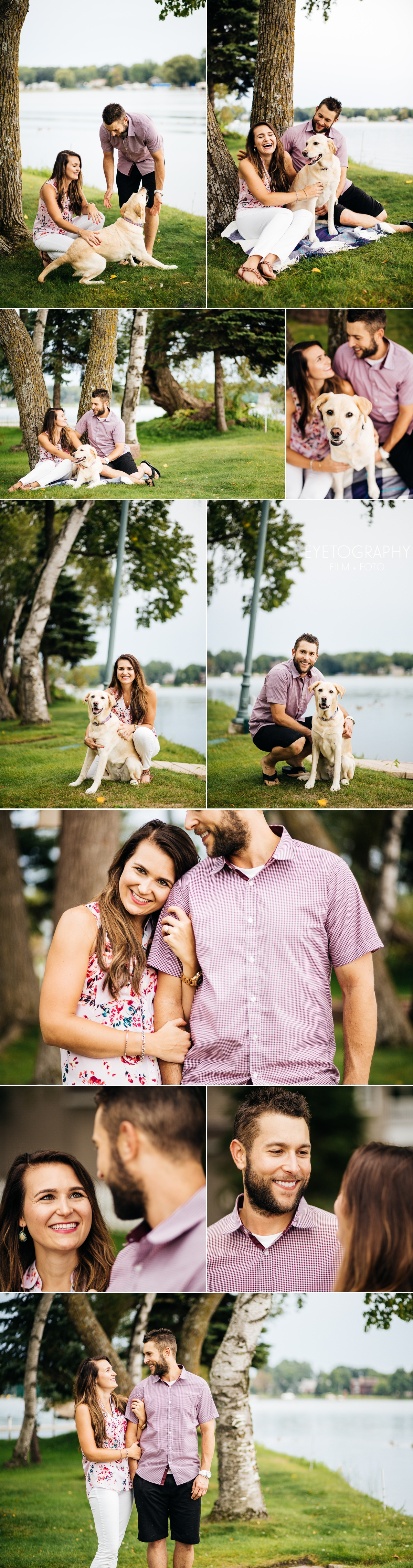 Engagement Session on a Lake | Andrea + Chris | Eyetography Film + Foto Minneapolis, MN
