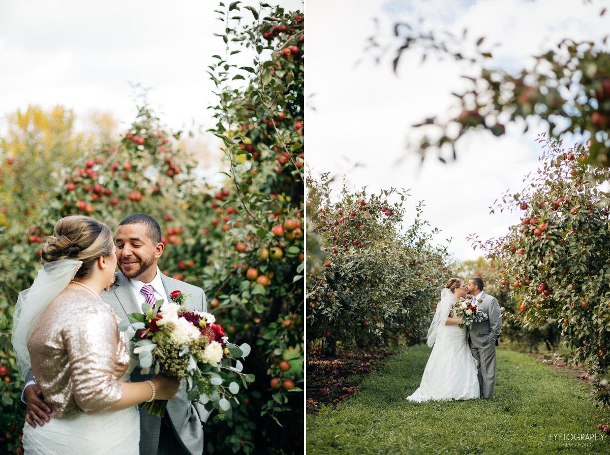 Minnesota Apple Orchard Wedding | Emily + Nate | Eyetography Film + Foto 8
