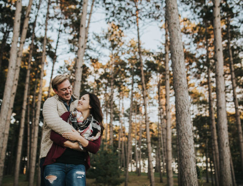 Minnesota Fall Engagement Photography | Kasia + Andrew