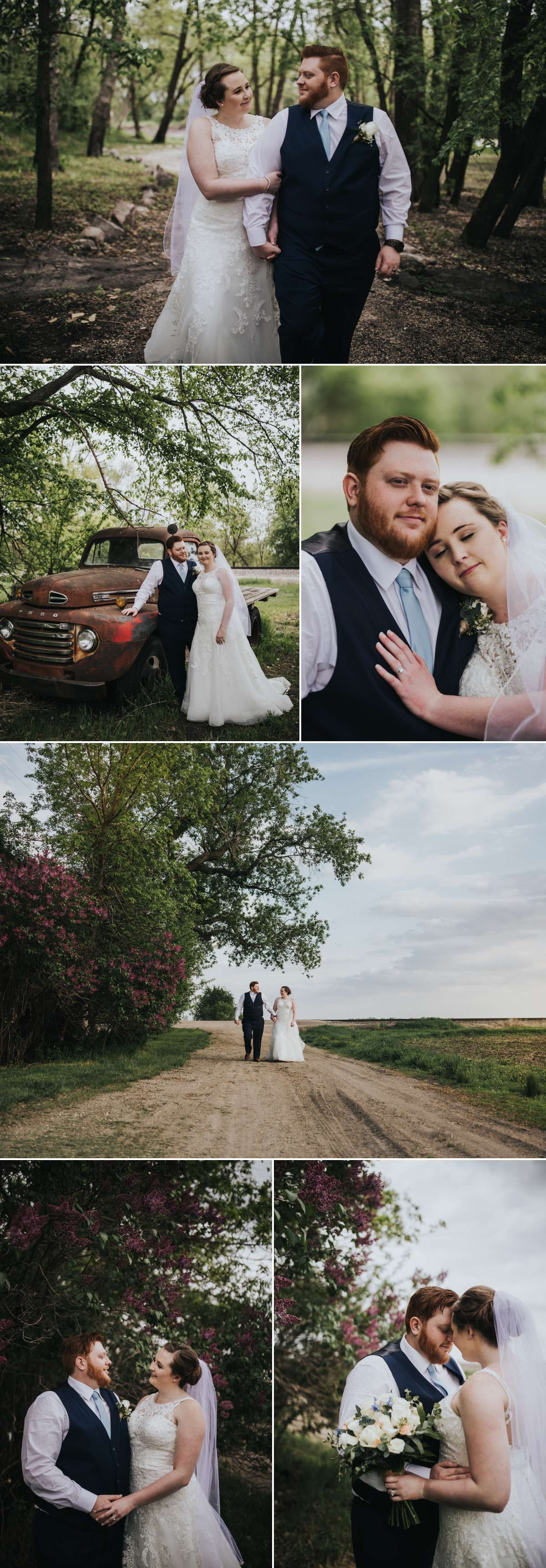 Bride and Groom couple portraits at Romantic Moon Event Center