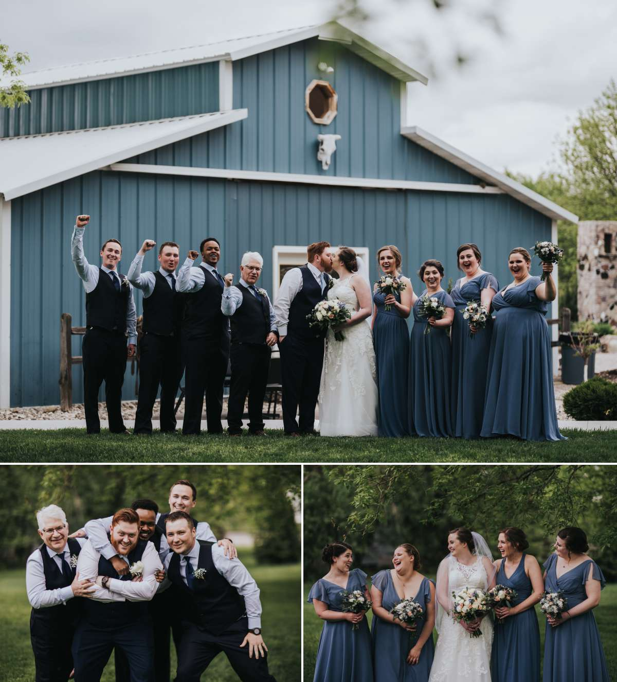 Bridal Party Photos at Romantic Moon Event Center