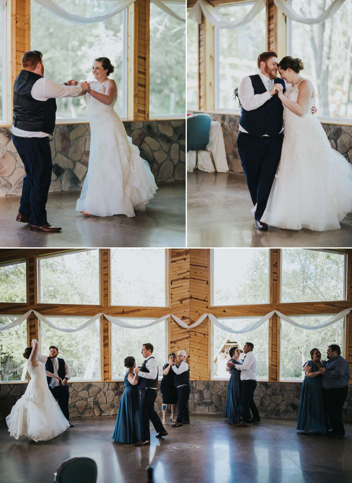 Bride and Groom First Dance at Romantic Moon Event Center