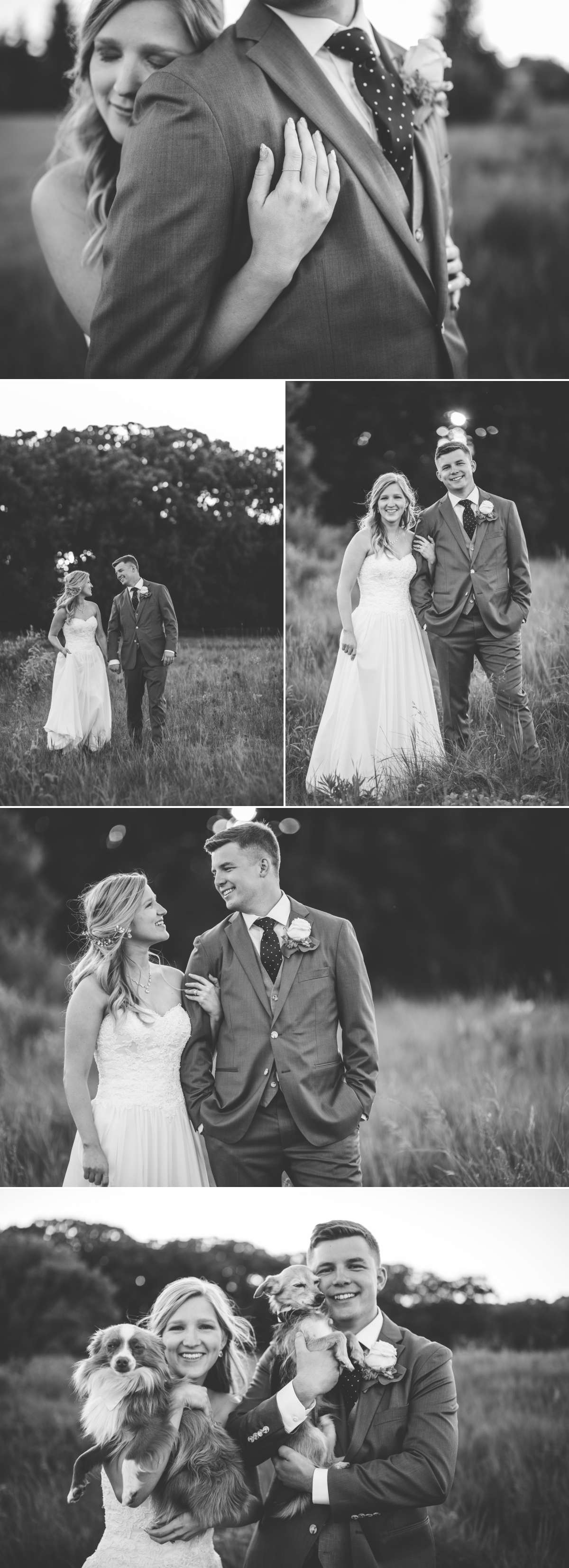 Bride and Groom taking bridal portraits