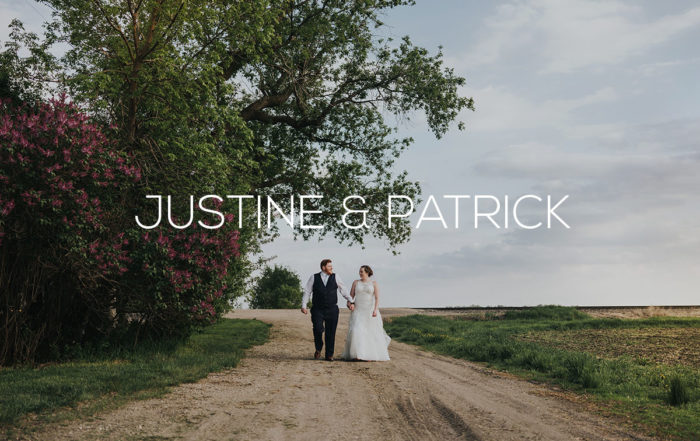 Bride and Groom walking on dirt path at Romantic Moon Event Center
